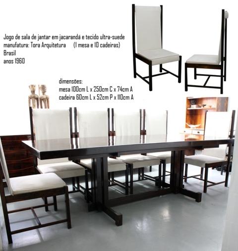 sala de jantar Tora Arquitetura, Equipamentos Exclusivos - acervo Legado Arte
