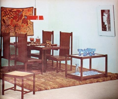 Tora Arquitetura e Equipamentos Exclusivos matéria Casa e Jardim ago 1969  sala de jantar